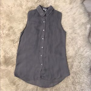 Madewell sheer button up tunic